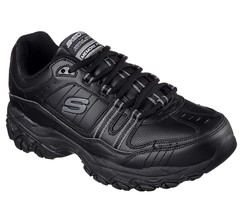 Skechers Wide Width EW Black shoes Men's Memory Foam Sport Comfort Sneak... - $53.99