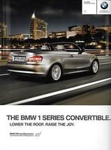 2011 BMW 1-SERIES Convertible brochure catalog 11 US 128i 135i - $8.00