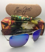 Polarized MAUI JIM Sunglasses COOK PINES MJ 774-17 Silver w/ Blue Hawaii Mirror