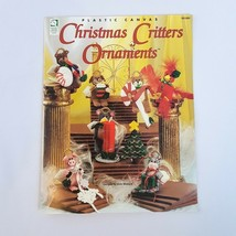 Christmas Critters Ornaments HOWB Plastic Canvas Pattern Booklet Cat Dog Pig - $5.86