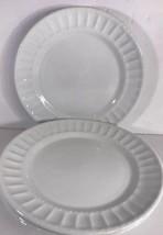 Gibson Designs Regalia Set of 4 Embossed Salad Plates (White) - $29.69