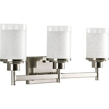 Progress Lighting 3-Light Alexa Brushed Nickel Bathroom Vanity Light - $85.01