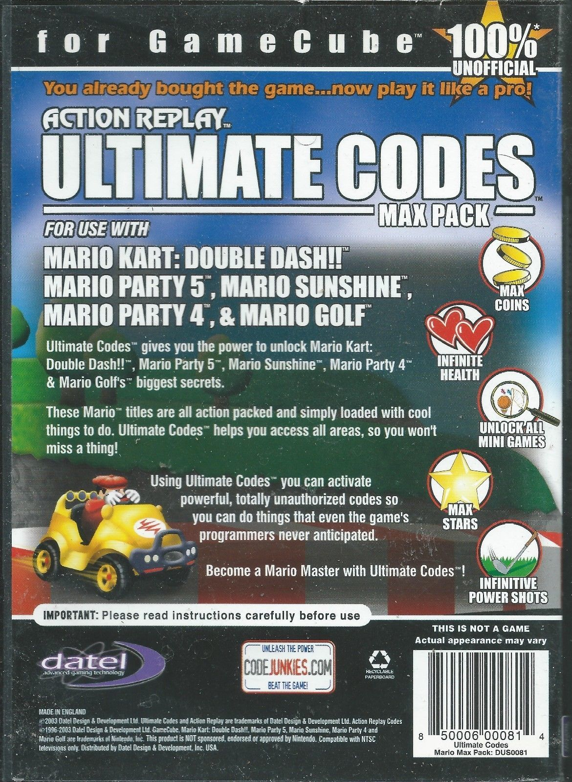 Action Replay Ultimate Codes: Mario Kart: and 50 similar items