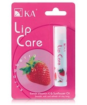 2X KA Lip Care Plus Balm Strawberry Fruity Shine Lasting Moisture Charmi... - $9.49