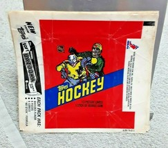 1981/82 Topps Hockey Wax Pack Wrapper Vintage NHL - $3.99