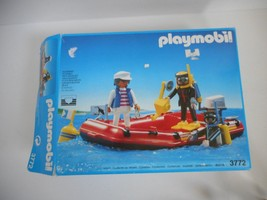Vintage Playmobil 3772 Boat Raft Set With Box - $39.99