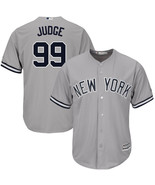 Men's New York Yankees Aaron Judge Gray Road Flex Base Replica Player Jersey - $37.99