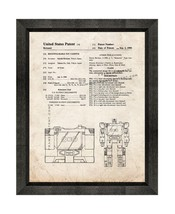 Transformers Soundwave Patent Print Old Look with Beveled Wood Frame - $24.95+