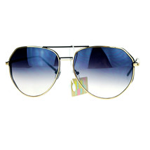 Oversized Aviator Sunglasses Angled Metal Frame Unisex Design - $12.95