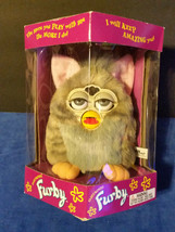 Vintage Original Furby Electronic Toy Gray with Pink Ears, Yellow Feet, - $52.20