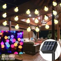 50 LED Solar Fairy String Lights Garden Outdoor Wedding Party Ball Bulb ... - $23.96+