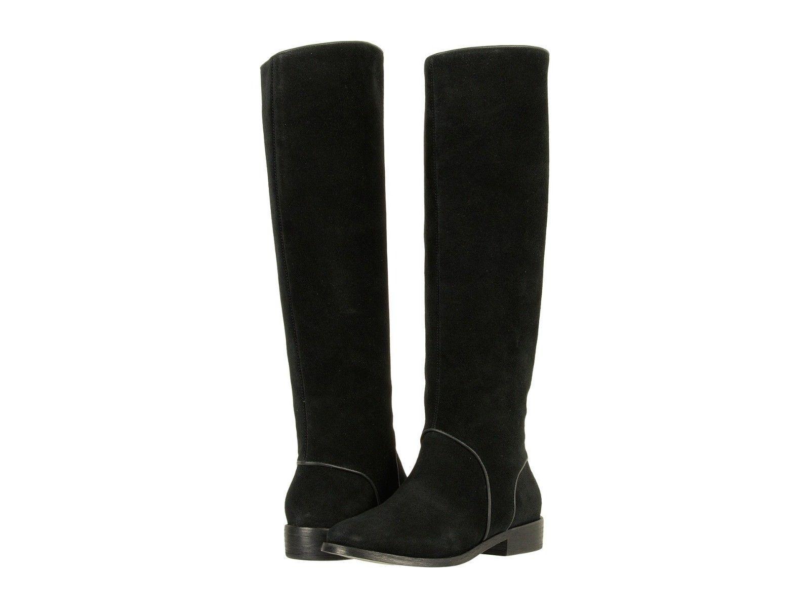 Women's UGG® Gracen Suede Block Heel Riding Boots, 1017344 Sizes 6-8.5 Black - $199.95