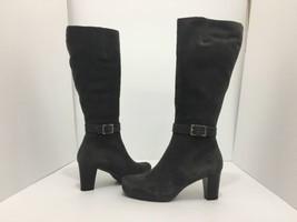 La Canadienne Katia Moka Brown Suede Womens Heel Knee High Waterproof Bo... - $106.21