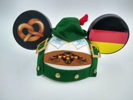 Disney Germany Mickey Mouse Ear Hat - Epcot - Pretzel German Flag WDW On... - $69.99