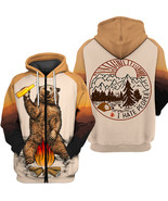 """Men's 3D  Zipper Hoodie """" I hate people """" Dream Bear Camping gift for fr... - $54.99"""