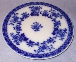 Antique Hudson Flow Blue 8 inch Plate J G Meakin Hanley England - $24.95