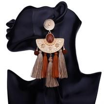 Refined Alloy Nation Bohemia Tassel Earrings Fashion Women Statement Dan... - $25.99