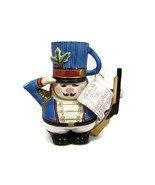 Fitz & Floyd Essentials Nutcracker Soldier Snack Therapy Bear Teapot/Cup  - $77.21