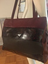 Vintage Sondra Roberts Leather Handbag Crossbody Shoulder Bag Warm Color... - $25.00