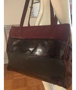 Vintage Sondra Roberts Leather Handbag Crossbody Shoulder Bag Warm Color... - $25.00