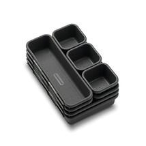 madesmart Value 8-Piece Interlocking Bin Pack - Granite   VALUE COLLECTI... - $25.88