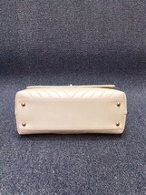 100% AUTHENTIC CHANEL 2017 CHEVRON QUILTED CALFSKIN COCO HANDLE BAG BEIGE GHW image 5