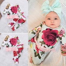 2Pcs Set Newborn Infant Baby Girl Clothes Floral long sleeve Tops Shirt ... - $13.99