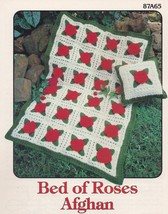 Bed of Roses Afghan, Annie's Attic Crochet Pattern Leaflet 87A65 - $3.95
