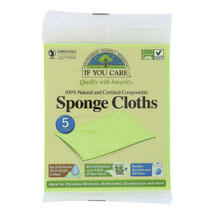 If You Care Sponge Cloths - 100 Percent Natural - 5 Count - Case of 12 - ₹5,307.75 INR