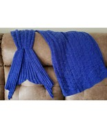Homemade Knit Mermaid Blanket, Adult Size, Acrylic Blend, Brand New (8) - $35.10