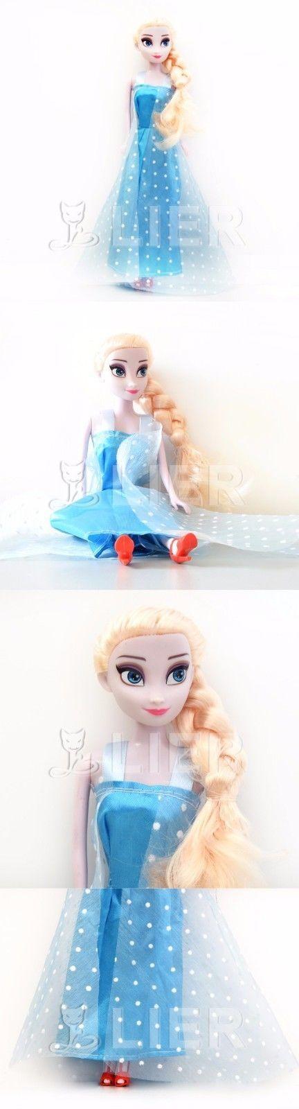 Princess Elsa Anna Doll Snow Queen Children Girls Toys Birthday Gifts