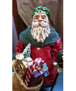 Clothtique Possible Dreams Rustic Santa Claus in Red Robes 1988  Antique... - $29.40