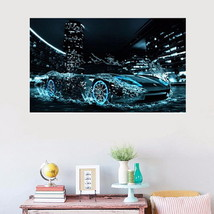 Super Cool Speed Car on Water 5D Diamond Painting Embroidery Home Decoration - $18.06