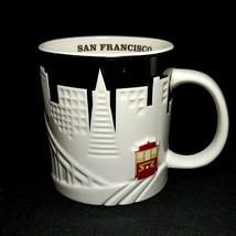 1 (One) STARBUCKS SAN FRANCISCO RELIEF Coffee Mug Cable Car 18 oz. DISCO... - $37.04