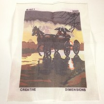 Silhouette In The Rain Dimensions Needlepoint CANVAS ONLY 2001 - $18.99