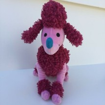 """Disney Store Authentic Plush IT'S A SMALL WORLD Pink French Poodle 11"""" Lovey - $9.99"""