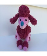 """Disney Store Authentic Plush IT'S A SMALL WORLD Pink French Poodle 11"""" L... - $9.99"""