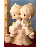 E-1376 Precious Moments Figurine for Couples, LOVE ONE ANOTHER 1978 Boy ... - $35.99