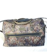 Protocol Tapestry Duffle Luggage Travel Bag Floral Multi-color Vintage C... - $22.76