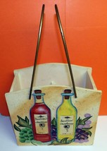 Heartland Wine Decorative Painted Chardonnay Bordeaux 2 Bottle Wooden Ca... - $9.59
