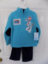 Disney Frozen Olaf 2 PC Fleece Top and Pants Size 3T Boy's NEW LAST ONE - $19.44