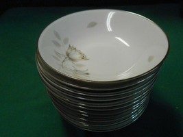Magnificent ROSENTHAL Germany PEACH BROWN-GRAY ROSE .....12 BERRY BOWLS - $63.94