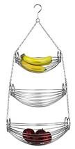 Home Basics 3-Tier Hanging Basket Hammock Chrome - $17.43