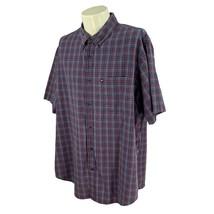 Ralph Lauren Jeans Co Men's Button Down Short Sleeve Cotton Blue Check Shirt XXL - $16.81