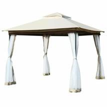 Modern 2-Tier 10' x 10' Canopy Gazebo Tent Shelter w/Mosquito Netting - $316.72