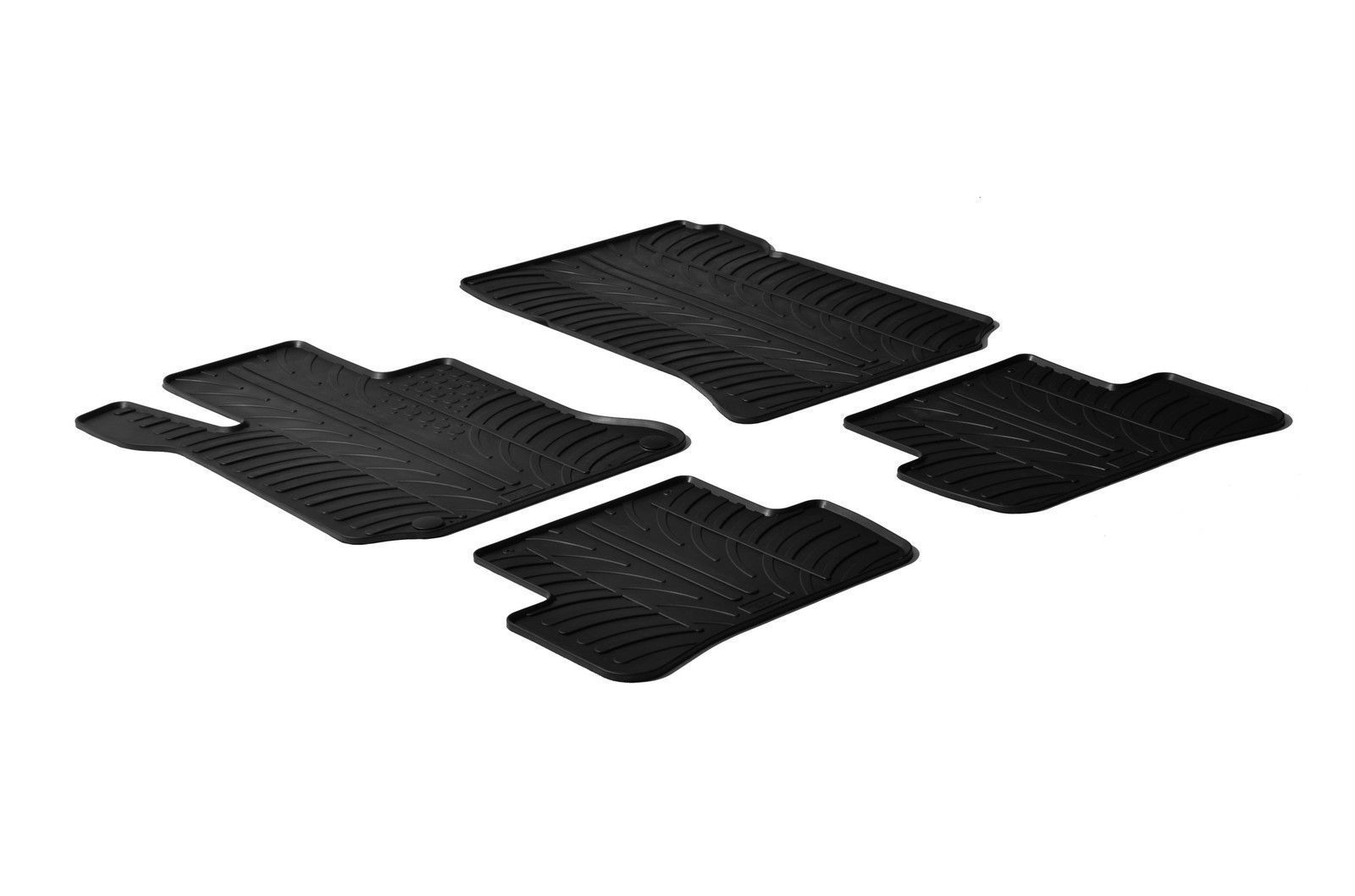Primary image for All Weather Rubber Floor Mats {fits 2008-2014 Mercedes C Class} 4 Pieces Black