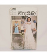Misses Brides Bridesmaids Dress Sewing Pattern 7259 Simplicity 1985 Uncu... - $18.99