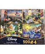 Thomas Kinkade Disney Princess 500 Piece 4 in 1 Puzzle - $29.69