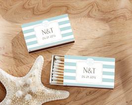 Personalized Match Box Bridal Shower Wedding Anniversary Favor Beach Nau... - $61.70+