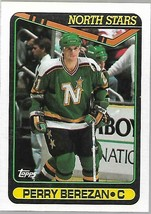 1990-91 TOPPS NHL-#357-Perry Berezan-North Stars-Center - $4.16